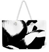 Black And White Layers Of A Rose  Weekender Tote Bag