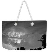 Black And White Light Show Weekender Tote Bag