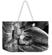 Black And White Lily Up Close Weekender Tote Bag