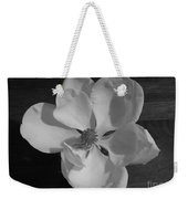 Black And White Magnolia Blossom Weekender Tote Bag