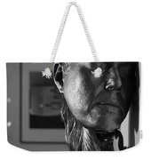 Black And White Mask Weekender Tote Bag