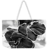 Black And White Maui Flowers Weekender Tote Bag