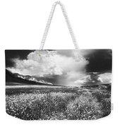 Black And White Meadow Weekender Tote Bag
