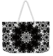 Black And White Medallion 1 Weekender Tote Bag