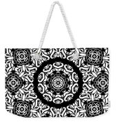 Black And White Medallion 10 Weekender Tote Bag