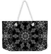 Black And White Medallion 11 Weekender Tote Bag