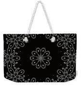 Black And White Medallion 4 Weekender Tote Bag