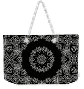 Black And White Medallion 6 Weekender Tote Bag
