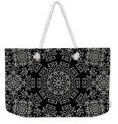 Black And White Medallion 7 Weekender Tote Bag