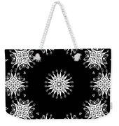 Black And White Medallion 9 Weekender Tote Bag
