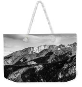 Black And White Mountains Weekender Tote Bag