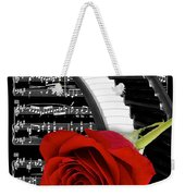 Black And White Music Collage Weekender Tote Bag