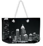 Black And White Night In Atlanta Weekender Tote Bag
