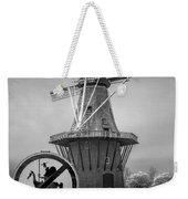 Black And White No Tilting At Windmills Weekender Tote Bag