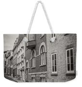 Black And White Old Style Photo Of Old Quebec City Weekender Tote Bag