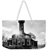 Black And White Philadelphia - Turtle Rock Lighthouse Weekender Tote Bag