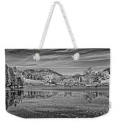 Black And White Photo Of Long Pond Acadia National Park Maine Weekender Tote Bag