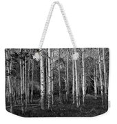 Black And White Photograph Of Birch Trees No. 0126 Weekender Tote Bag