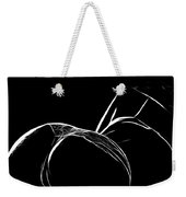 Black And White Pleasure Weekender Tote Bag