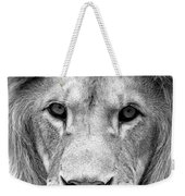 Black And White Portrait Of A Lion Weekender Tote Bag