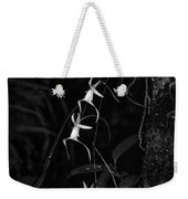 Black And White Quad Ghost Orchid Weekender Tote Bag