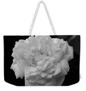 Black And White Rose Weekender Tote Bag