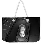 Black And White Spiral Staircaise Weekender Tote Bag