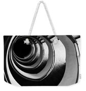 Black And White Spirals Weekender Tote Bag