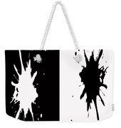 Black And White Splashes Digital Painting Weekender Tote Bag