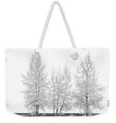 Black And White Square Diptych Tree 12-7693 Set 1 Of 2 Weekender Tote Bag