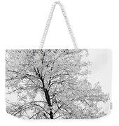 Black And White Square Tree  Weekender Tote Bag