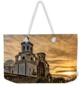 Black And White Sunrise Over Mission Weekender Tote Bag