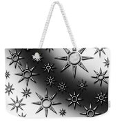 Black And White Suns Weekender Tote Bag