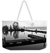 Black And White Sunset Weekender Tote Bag