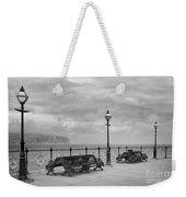 Black And White Swanage Pier Weekender Tote Bag