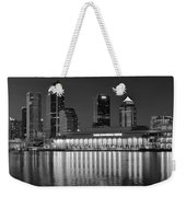 Black And White Tampa Night Weekender Tote Bag