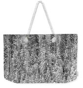 Black And White Trees In A Forest Weekender Tote Bag