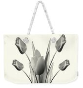 Black And White Tulips Drawing Weekender Tote Bag