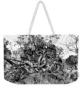 Black And White Uprooted Tree Weekender Tote Bag