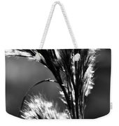 Black And White Vegetation In The Dunes Weekender Tote Bag