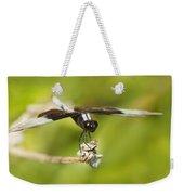 Black And White Widow Skimmer Weekender Tote Bag
