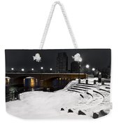 Black And White With A Splash Of River Weekender Tote Bag