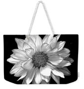 Black And White Zennia Weekender Tote Bag