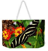 Black And Yellow Butterfly Weekender Tote Bag