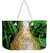 Black And Yellow Garden Spider Egg Sac Weekender Tote Bag