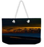 Black Beach With Orange Sky Weekender Tote Bag