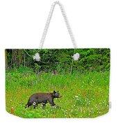 Black Bear Along Yellowhead Highway-bc Weekender Tote Bag