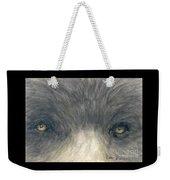Black Bear Eyes Wildlife Animal Art Weekender Tote Bag