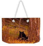 Black Bear Sticking Out Her Tongue  Weekender Tote Bag