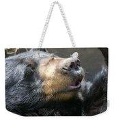 Black Bear Up Close Weekender Tote Bag